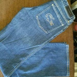 Lacoste Straight Leg Dark Denim Jeans Size 28